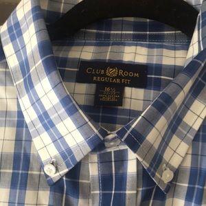 Men's dress shirt Macy's Club Room nwot
